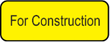 For Construction Sticker